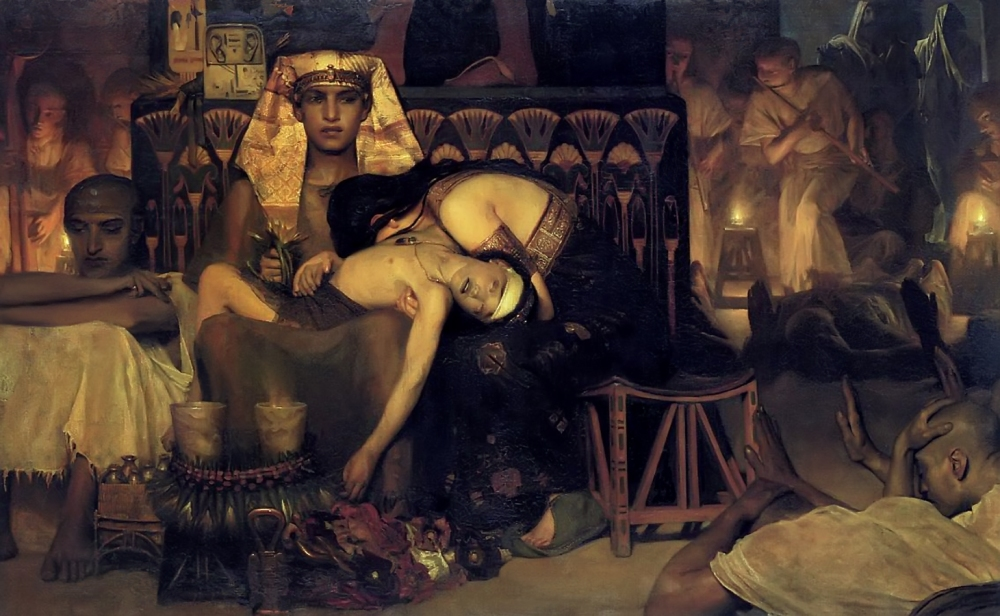 The Death of the First Born by Sir Lawrence Alma-Tadema